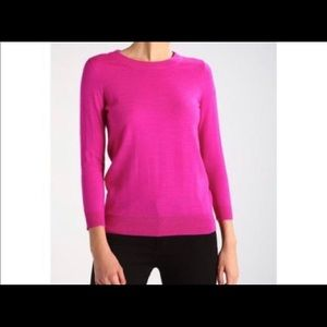 J Crew Magenta Merino Tippi Sweater